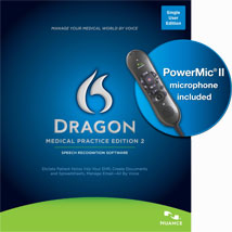 Dragon Medical Practice Edition 2 with Nuance PowerMic II